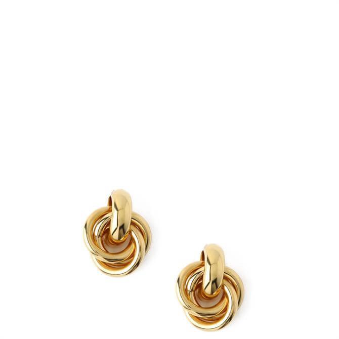 Orelia London Jewellery Gold Statement Interlocking Earrings