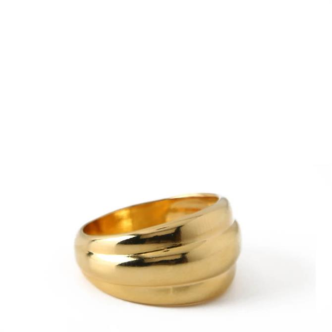 Orelia London Jewellery Gold Voluminous Ring