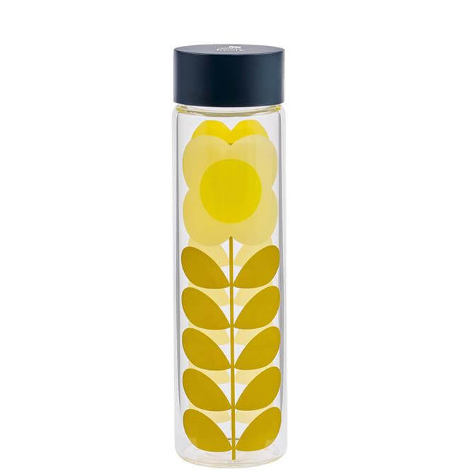Orla Kiely Daisy Stem Glass Water Bottle
