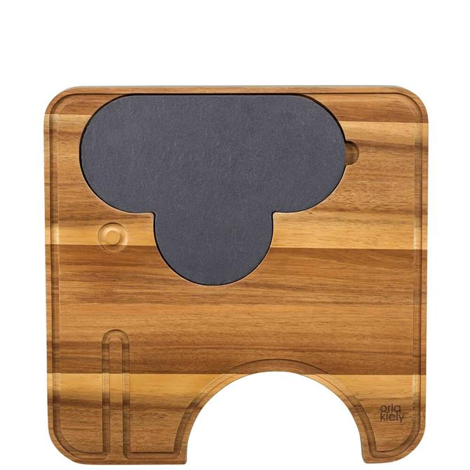 Orla Kiely Ela Elephant Cheeseboard with Knives