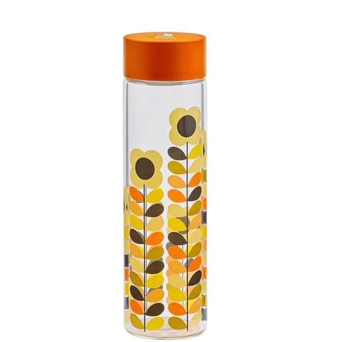 Orla Kiely Multi Stem Daisy Glass Water Bottle