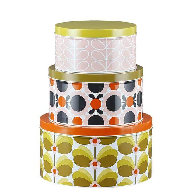 Orla Kiely Butterfly Stem Set of 3 Nesting Cake Tins