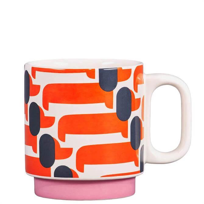 Orla Kiely Dachshund Papaya Mug