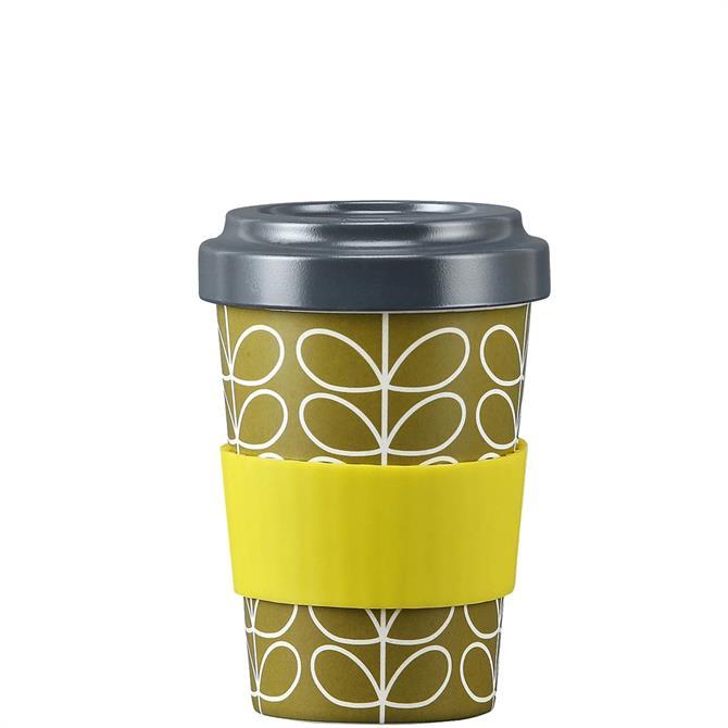 Orla Kiely Linear Stem Bamboo Travel Mug