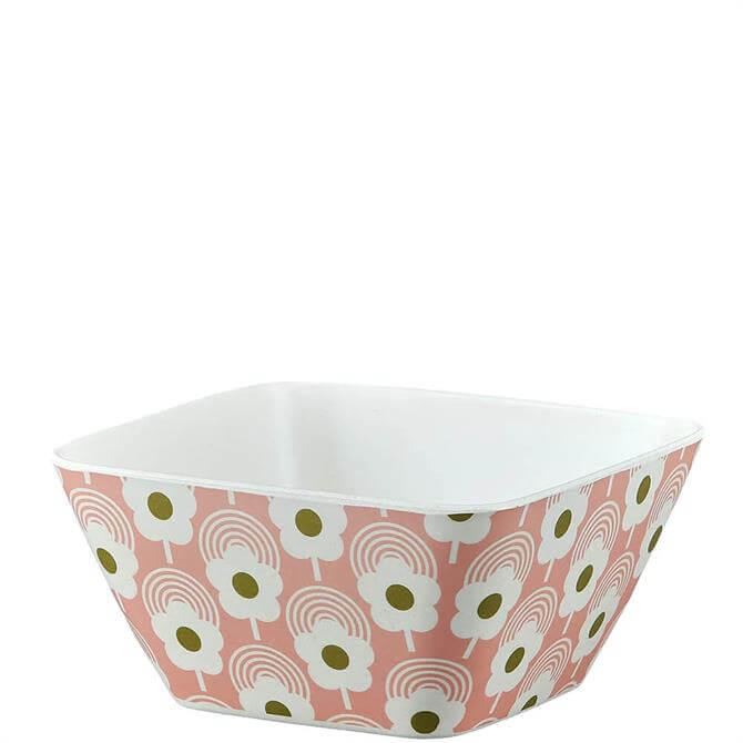 Orla Kiely Lollipop Flower Bubblegum Bamboo Bowl