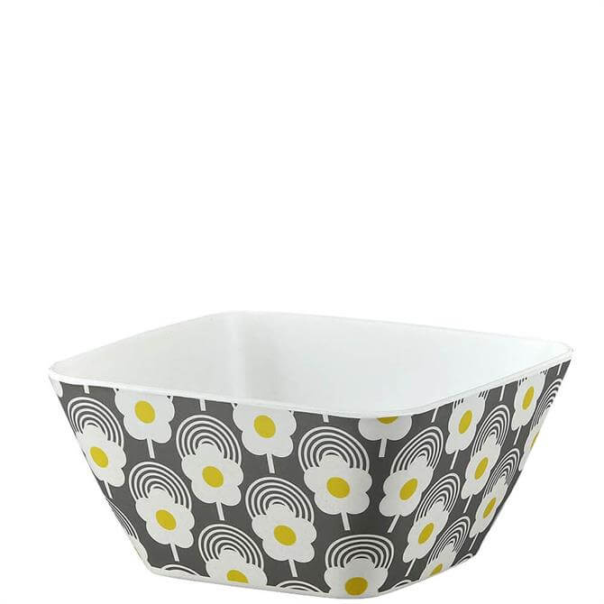 Orla Kiely Lollipop Flower Graphite Bamboo Bowl