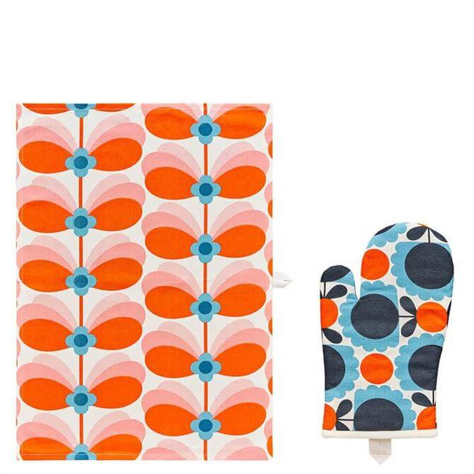 Orla Kiely Tea Towel & Oven Mitt Set