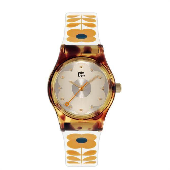 Orla Kiely Baby Bobby Tortoiseshell/Orange Ladies Watch