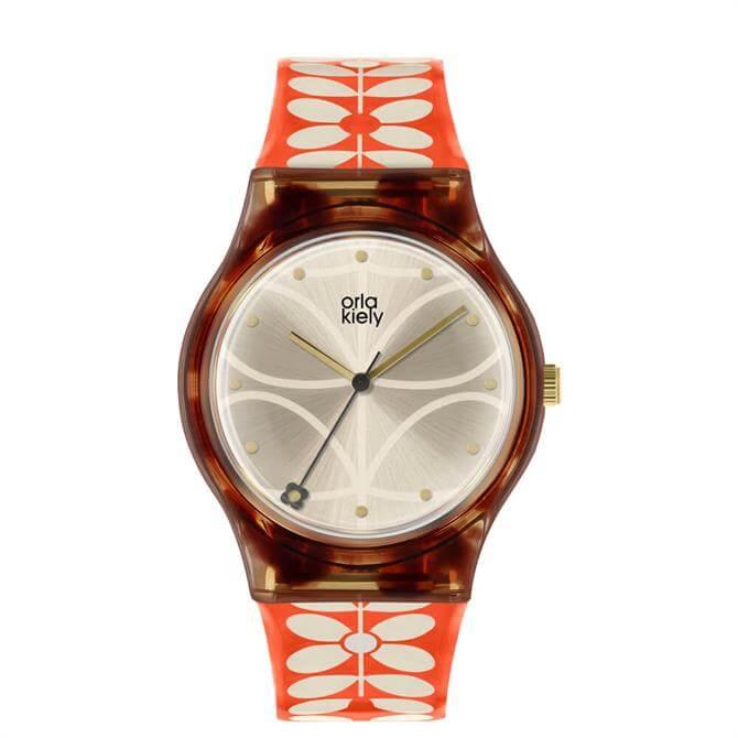 Orla Kiely Bobby Tortoiseshell/Orange Ladies Watch