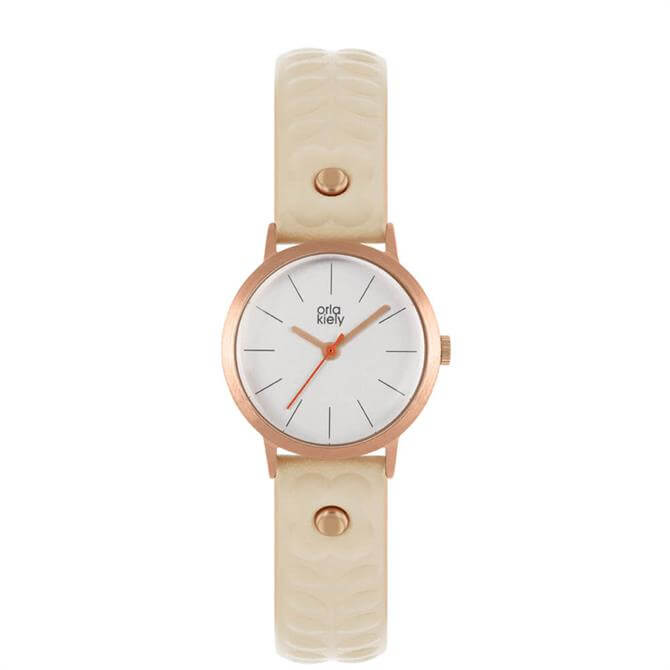 Orla Kiely Patricia Rose Gold/Nude Ladies Watch