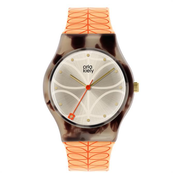 Orla Kiely Bobby Orange Linear Stem Watch