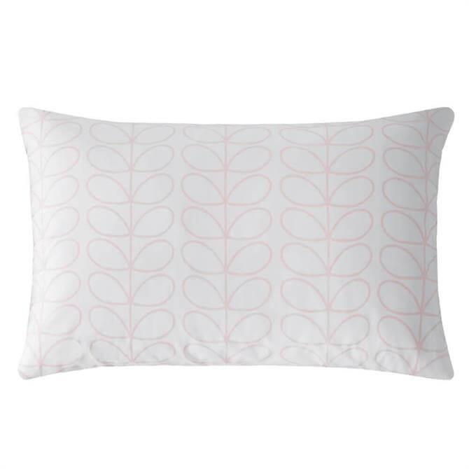Orla Kiely Linear Stem Pink Pair of Standard Pillowcases