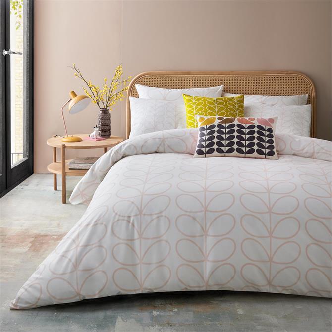 Orla Kiely Linear Stem Pink Duvet Cover