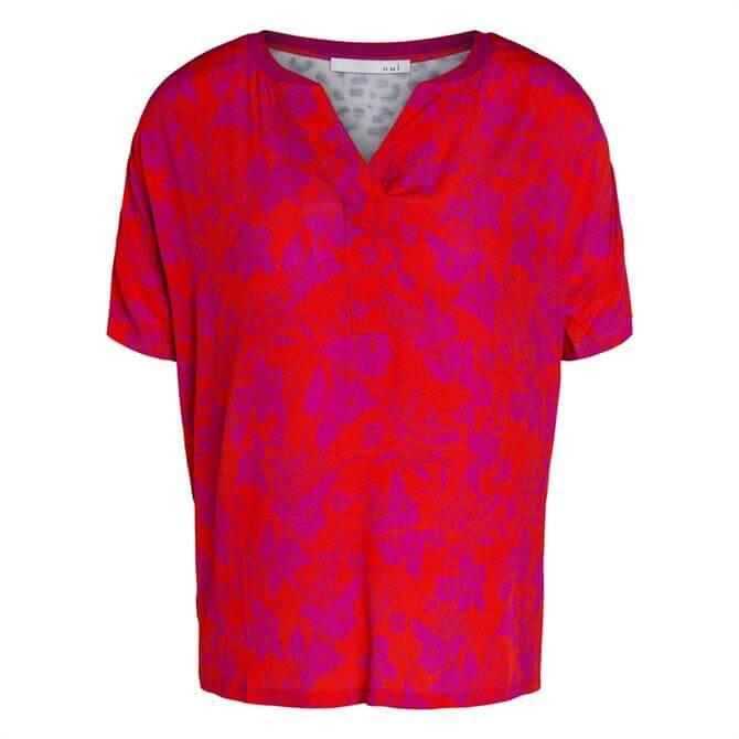 Oui Animal Floral Print T-Shirt