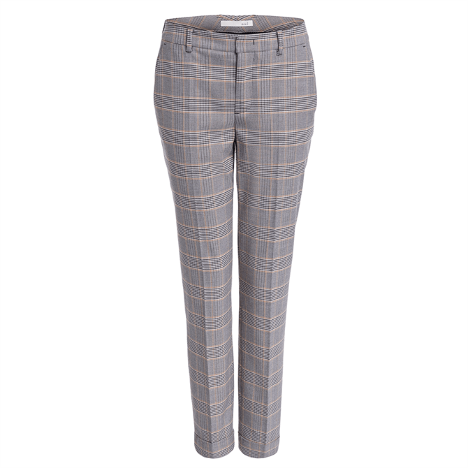 Oui Checked Suit Trousers