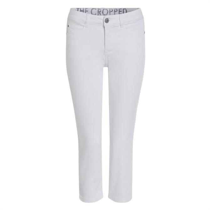 Oui Split Hem Cropped Jeans