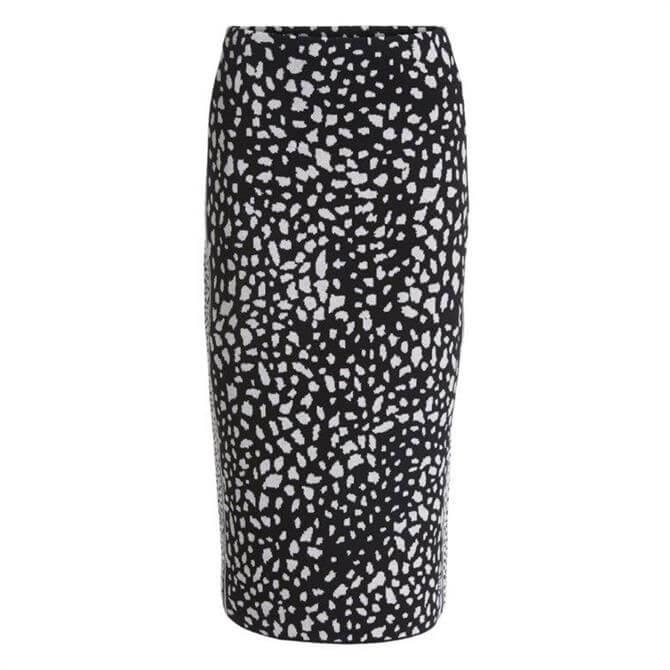 Oui Dalmation Pencil Skirt
