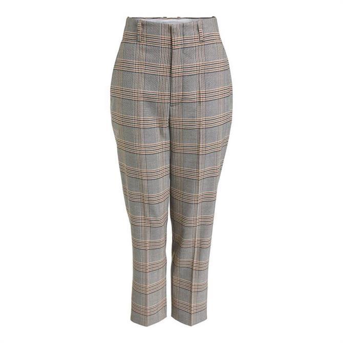 Oui Glen Check Trousers