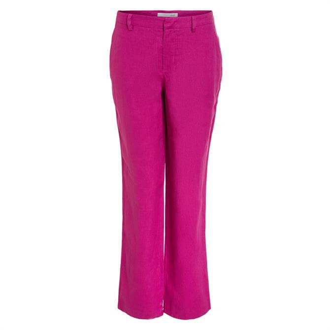 Oui Summer Linen Trousers