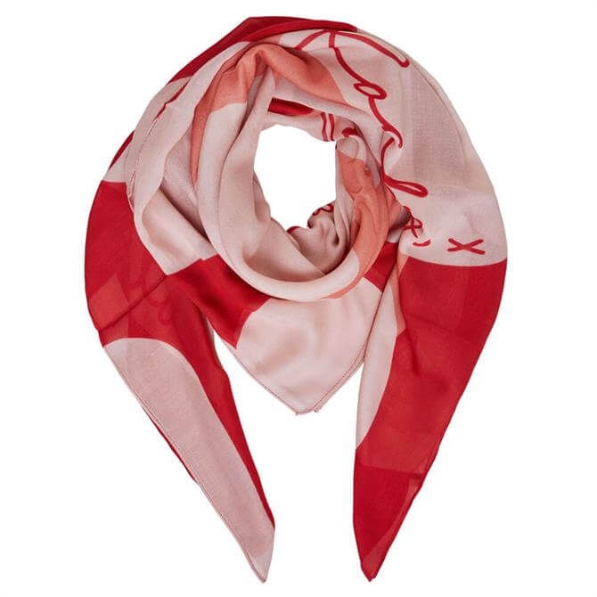 Oui Love Heart Printed Scarf