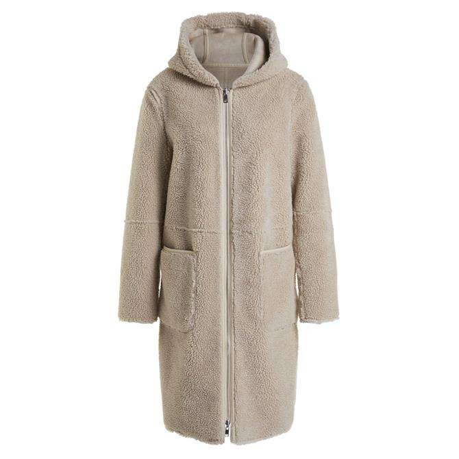 Oui Reversible Teddy Coat
