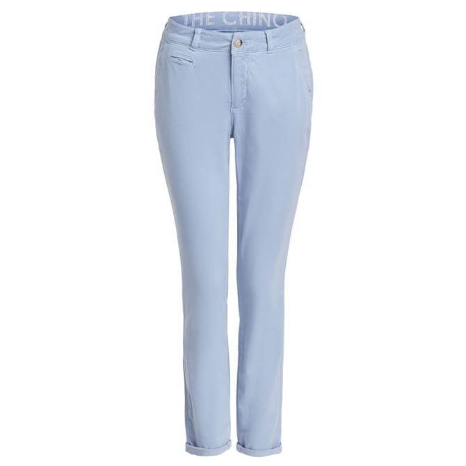 Oui Slim Fit Cotton Rich Chino Trousers