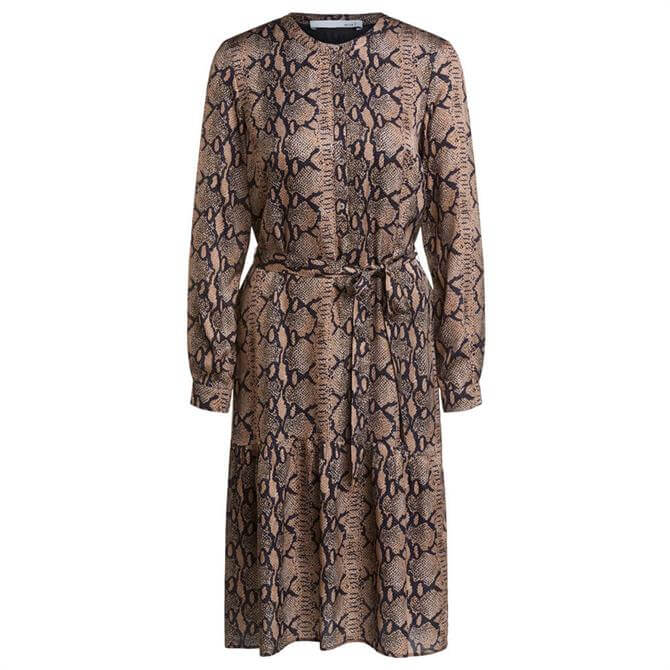 Oui Snake Print Tie Dress