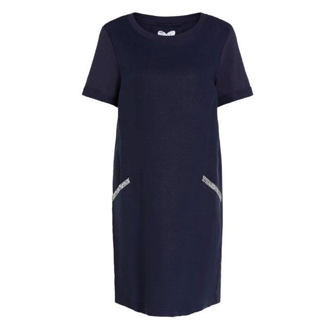 Oui Sparkle Pocket Linen Dress