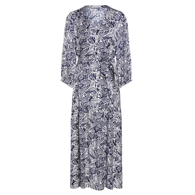 Oui Tropical Print Maxi Dress