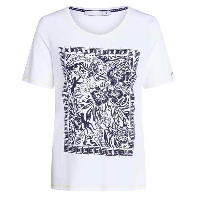 Oui Tropical Print T-Shirt