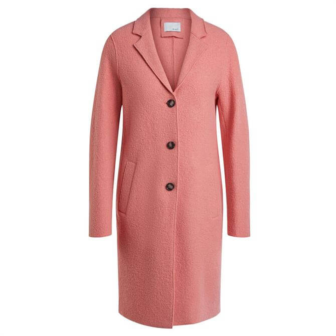 Oui Wool Blend Buttoned Colourful Coat