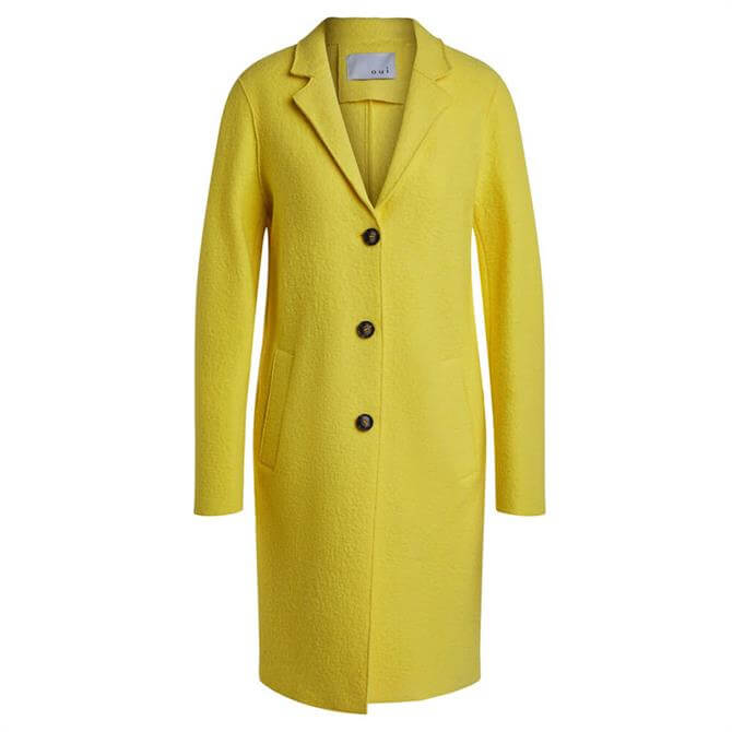 Oui Wool Blend Buttoned Coat