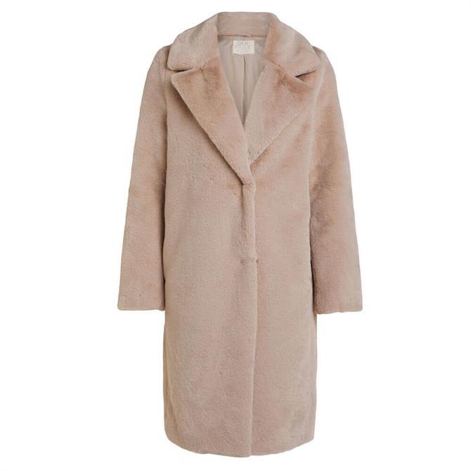 Oui Plush Faux Fur Oversize Coat