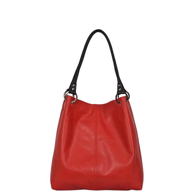 Owen Barry Dudley Chilli Red Leather Shoulder Bag