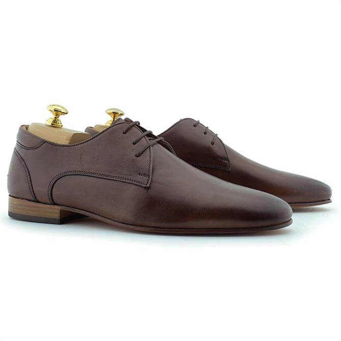 Paolo Vandini Damon Lace Tan Brown Derby Shoes