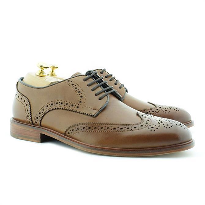 Paolo Vandini Echo Tan Leather Brogue Shoe
