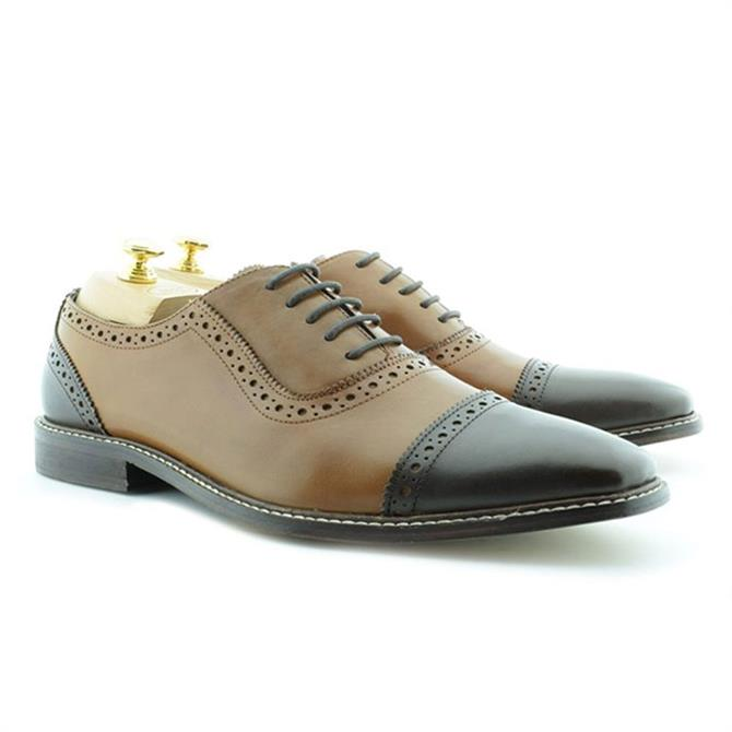 Palo Vandini Eduardo Toe Cap Leather Oxford Shoe