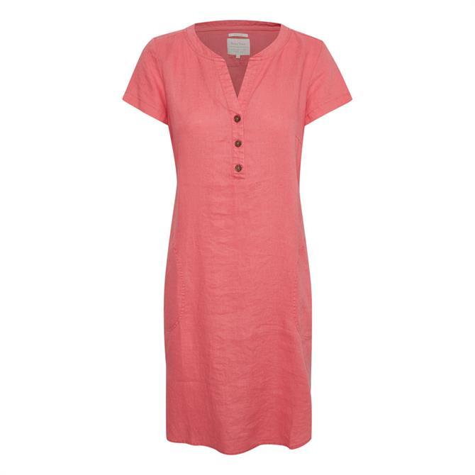 Part Two Aminass Buttoned Linen Dress