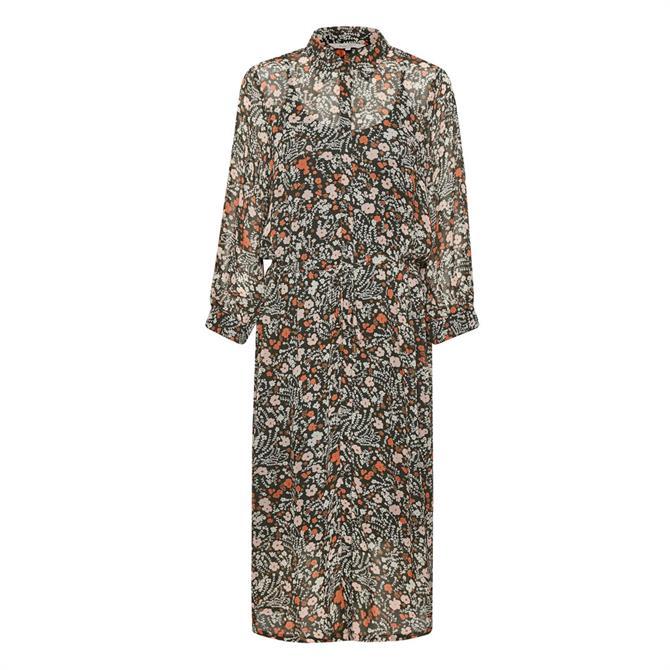 Part Two Esmine Floral Print Midi Shirt Dress