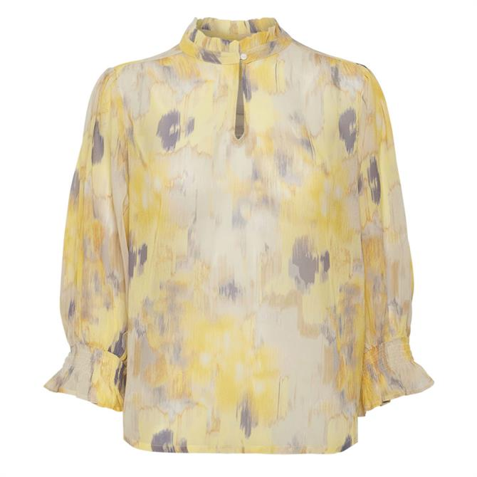Part Two Hoas Printed High Neck Blouse