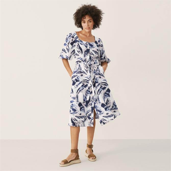 Part Two Iga Palm Print Dress