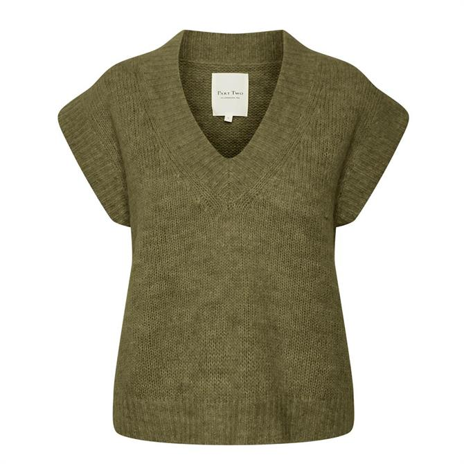 Part Two Karine Knitted Waistcoat