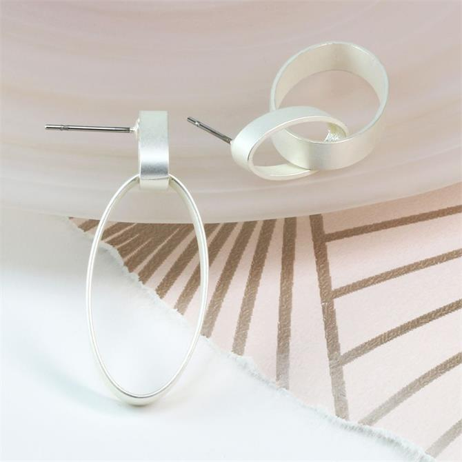 Peace of Mind Plated Matt Finish Linked Hoop Earrings