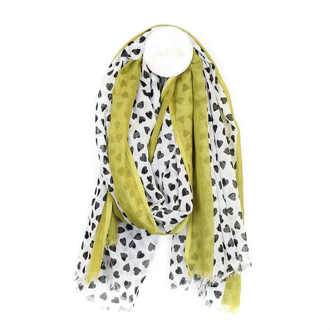 Peace of Mind Heart or Star Print Cotton Scarf