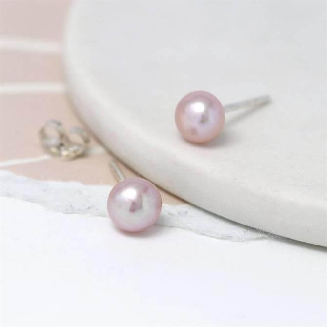 Peace of Mind Pale Pink Freshwater Pearl Stud Earrings