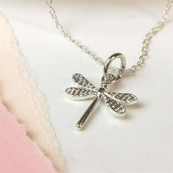 Peace of Mind Sterling Silver Dragonfly Necklace