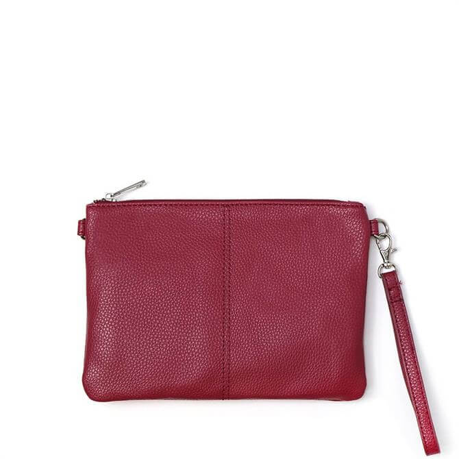 Peace of Mind Vegan Leather Magenta Convertible Clutch Bag