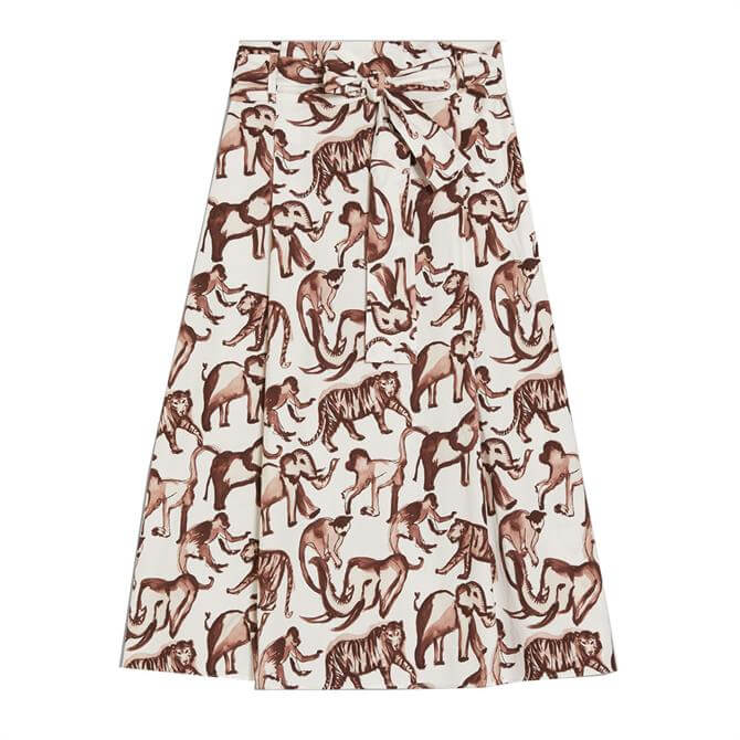 Pennyblack Safari Print Poplin Skirt