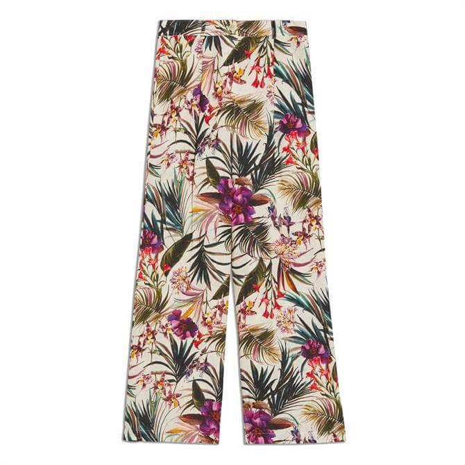 Pennyblack Lirica Tropical Print Pure Linen Trousers