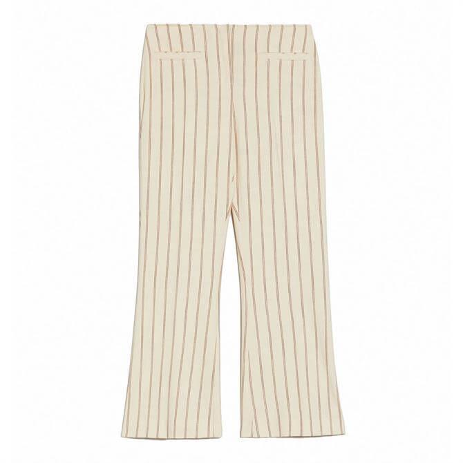 Pennyblack Pinstripe Slubbed Basketweave Trousers